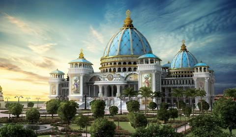 Temple Of The Vedic Planetarium 吠陀天文館的寺廟