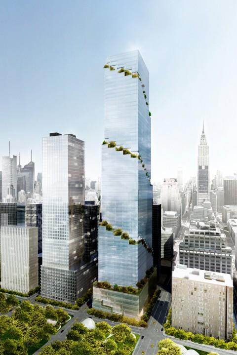 Construction Begins on BIG's Spiral Skyscraper in Manhattan開始在曼哈頓建造大型螺旋摩天大樓