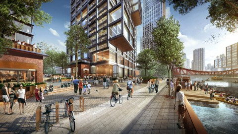 SOM unveils plans for Chicago's Lincoln Yards neighbourhood SOM公佈了芝加哥林肯碼頭社區的計劃