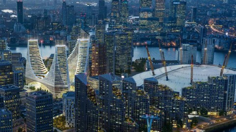 First images revealed of £1 billion glass landmark building in London's Greenwich Peninsula 第一張照片顯示倫敦格林威治半島的10億英鎊玻璃地標建築
