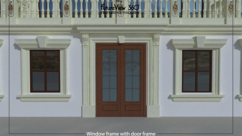 Window frame with door frame 窗框與門框