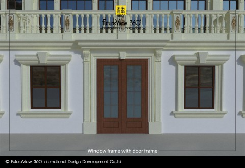 Window frame with door frame 窗框與門框