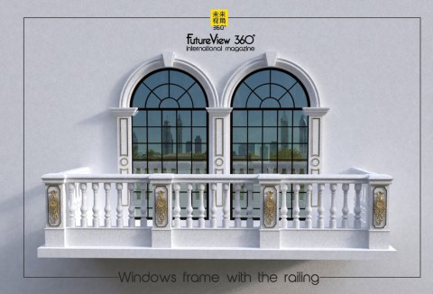 Window frame with the railing 窗框與欄杆|FutureView360