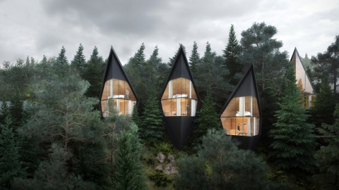 Peter Pichler designs Tree House hotel rooms for forest in the Italian Dolomites |Peter Pichler為意大利多洛米蒂山脈的森林設計了Tree House酒店客房