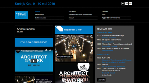 2019 Kortrijk International Architecture and Interior Design Exhibition, ARCHITECT@WORK BELGIUM – KORTIJK 2019比利時科特賴克國際建築和室內設計展覽會ARCHITECT@WORK BELGIUM – KORTIJK
