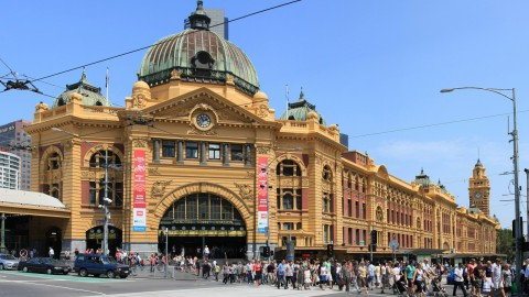 Flinders Street railway station 弗林德斯街火車站