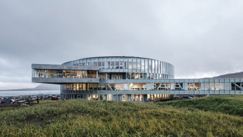 BIG completes vortex-shaped Glasir education centre in Faroe Islands' capital |BIG在法羅群島首都完成了渦旋形Glasir教育中心