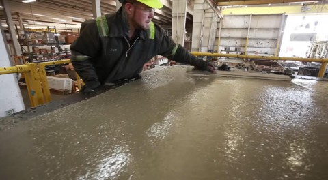 The Scenes Of A Precast Concrete Plant