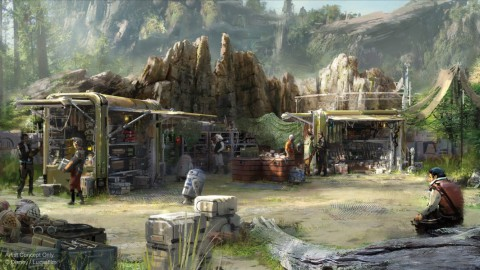New Renderings for Star Wars: Galaxy's Edge, First Look at Resistance Supply and First Order Cargo 星球大戰的新渲染:銀河邊緣,首先看阻力供應和一階貨物