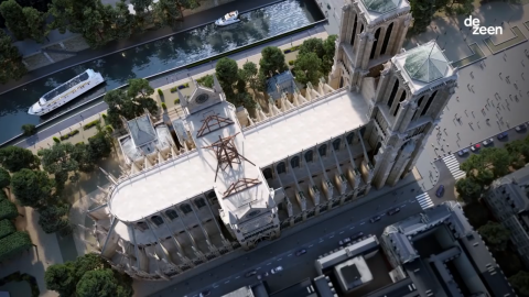 Watch a fly-through animation showing Notre-Dame rebuilt with a replica spire and a glass roof 觀看一個飛越動畫,展示用複制尖頂和玻璃屋頂重建的Notre-Dame