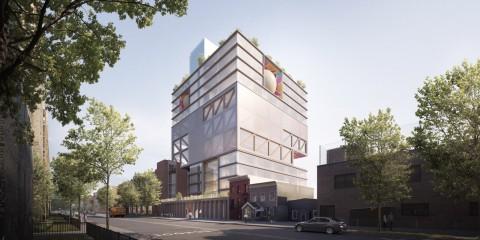 ODA unveils towering Jewish school and community centre in Brooklyn's Crown Heights 官方發展援助在布魯克林的皇冠高地(Crown Heights)推出了高聳的猶太學校和社區中心