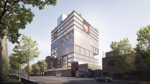 ODA unveils towering Jewish school and community centre in Brooklyn's Crown Heights 官方發展援助在布魯克林的皇冠高地(Crown Heights)推出了高聳的猶太學校和社區中心