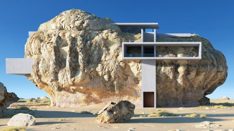 Amey Kandalgaonkar imagines home built into giant boulder|Amey Kandalgaonkar想像房屋建在巨石上