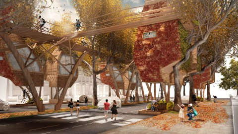 Matthew Chamberlain proposes Street Tree Pods to alleviate London's housing crisis |馬修·張伯倫(Matthew Chamberlain)提出街道樹莢(Street Tree Pods)來緩解倫敦的住房危機