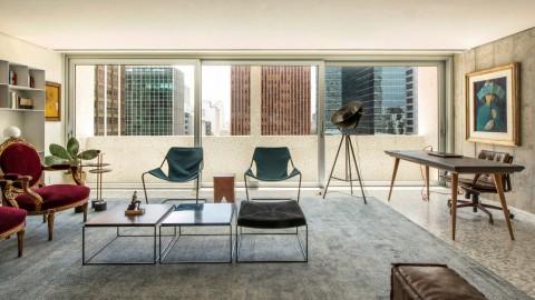 Saito Arquitetos updates apartment in modernist São Paulo building|Saito Architects更新了現代主義聖保羅大樓的公寓
