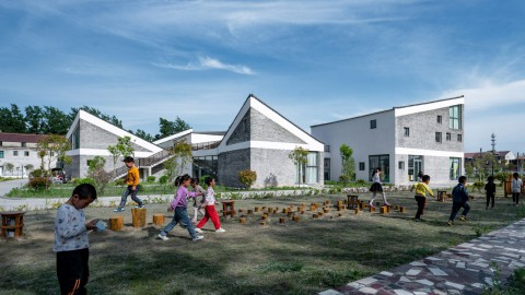 "Crossboundaries designs ""mini village"" for kindergarten in rural China 跨境設計中國農村幼兒園的""迷你村"""