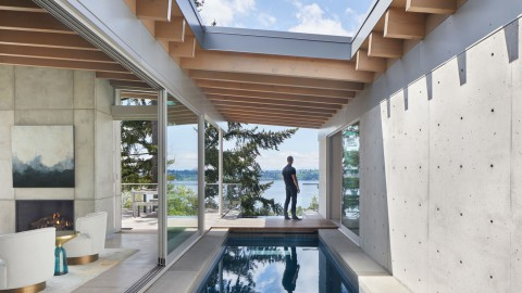 Garret Cord Werner includes three pools in Seattle house designed for avid swimmer|Garret Cord Werner在西雅圖的房子裡設有三個泳池,專為狂熱的游泳運動員設計