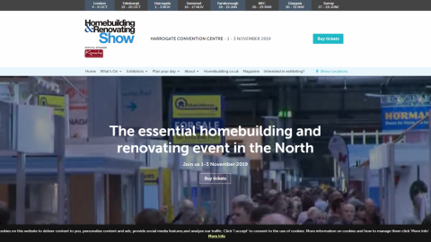 Homebuilding & Renovating Show in Harrogate 哈羅蓋特的住宅建築和裝修展