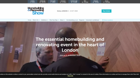 Homebuilding & Renovating Show in London 倫敦的住宅建築和裝修展