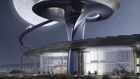 Faraday future's sci-fi-inspired california campus 法拉第未來的科幻風格加州校園