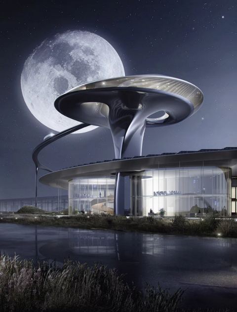 Faraday future's sci-fi-inspired california campus 法拉第未來的科幻風格加州校園