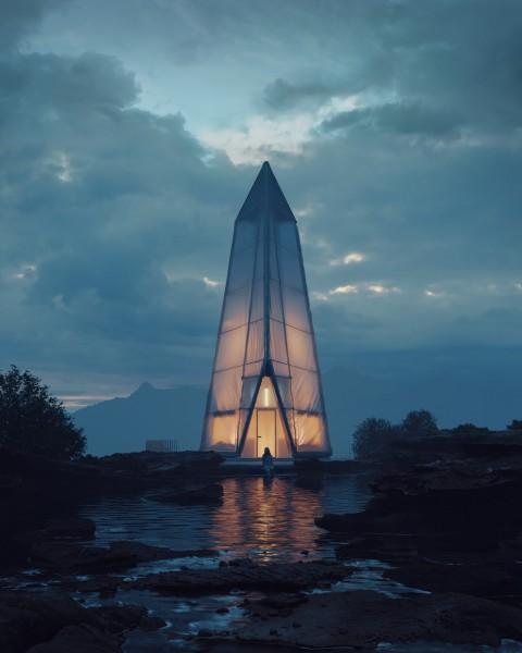 A Cabin Concept by Bartosz Domiczek |Bartosz Domiczek的小屋概念