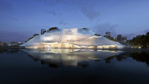 MAD designs Yiwu Grand Theater to look like a Chinese junk|MAD將義烏大劇院設計成中國帆船