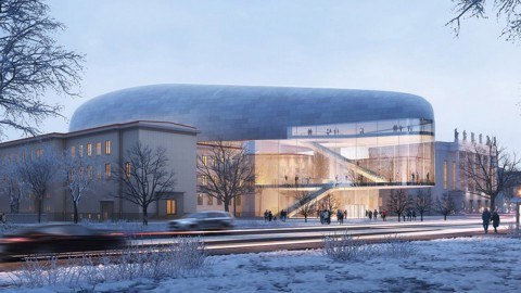Steven Holl designs zinc-clad concert hall for Czech Republic|Steven Holl為捷克共和國設計了鍍鋅音樂廳