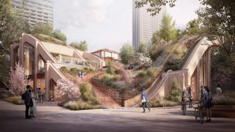 "Heatherwick Studio reveals designs for ""gigantic planted pergola"" in Tokyo|Heatherwick Studio在東京展示了""巨大的種植涼棚""的設計"
