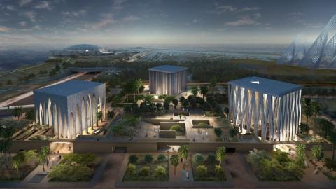 David Adjaye designs trio of multifaith temples in Abu Dhabi|David Adjaye在阿布扎比設計三重信仰寺廟