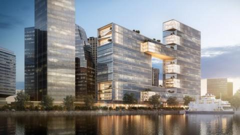 "SOM designs Buenos Aires office building with ""urban window"" to waterfront|SOM設計了布宜諾斯艾利斯的辦公大樓,其中的""城市窗戶""可通往海濱"