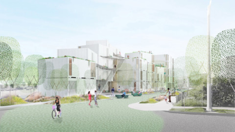 LOHA designs affordable housing complex for difficult site in Los Angeles|LOHA為洛杉磯困難地區設計經濟適用房