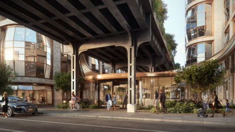 Heatherwick Studio unveils glass lobby joining High Line condos Lantern House 希瑟威克工作室(Heatherwick Studio)推出玻璃大廳,加入高線公寓燈籠屋