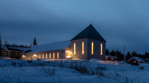 Our Lady of the Snows church combines Moravian and Innu influences 聖母雪教堂結合了摩拉維亞和因努的影響