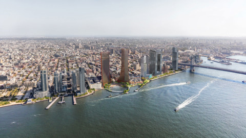 BIG and Field Operations design resilient park and skyscrapers for Williamsburg waterfront|BIG和現場運營部為威廉斯堡海濱設計了彈性的公園和摩天大樓