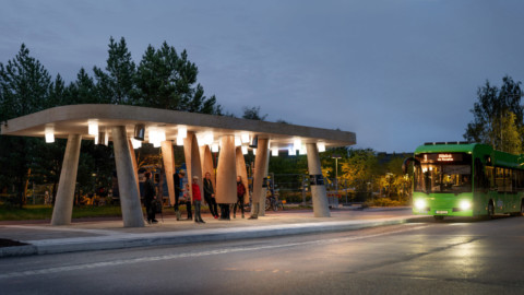 Station of Being is an interactive Arctic bus stop 生命存在站是互動的北極巴士站