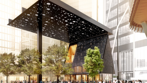 David Adjaye designs Sydney Plaza canopy to evoke Aboriginal paintings 大衛·阿賈耶(David Adjaye)設計悉尼廣場的樹冠以喚起土著繪畫