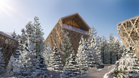 Peter Pichler reveals visuals of luxury wooden Tree Suites in Austria 彼得·皮克勒(Peter Pichler)展示奧地利豪華木樹套房的視覺效果