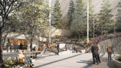 Snøhetta gets go ahead for public garden at Phillip Johnson's AT&T building Snøhetta前往Phillip Johnson AT&T大樓的公共花園
