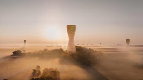 Studio Symbiosis proposes Aũra towers to alleviate air pollution in Delhi|Studio Symbiosis Studio提議Aũra塔以減輕德里的空氣污染