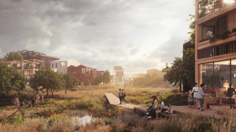 "Henning Larsen reveals visuals for Copenhagen's ""first all-timber neighbourhood"" 亨寧·拉森(Henning Larsen)為哥本哈根""第一個全木材社區""展示視覺效果"