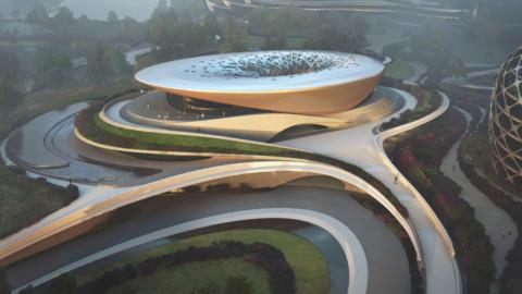 First building on Zaha Hadid Architects' Unicorn Island nears completion|Zaha Hadid Architects的獨角獸島上的第一座建築即將完工