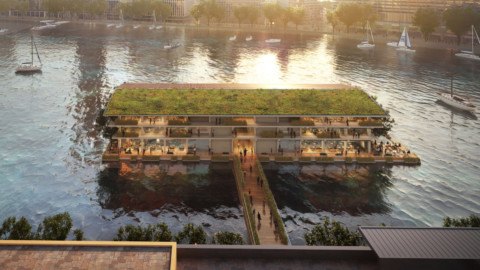 Powerhouse Company reveals floating off-grid office in Rotterdam |Powerhouse Company揭露鹿特丹浮動離網辦公室