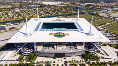 Watch drone footage of the Super Bowl 2020 stadium 觀看2020年超級碗體育場的無人機畫面