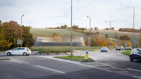 Grimshaw designs sculptural metal enclosure for HS2 ventilation shaft|Grimshaw設計用於HS2通風井的雕塑金屬外殼