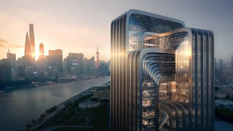 "Zaha Hadid Architects shares proposal for Shanghai's ""greenest building""