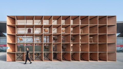Trade show pavilion transformed into furniture for rural Chinese community|貿易展覽館變成了中國農村社區的家具