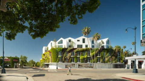 "MAD wraps Beverly Hills residences Gardenhouse with America's ""largest living wall""