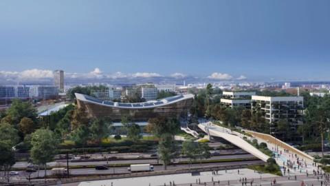VenhoevenCS and Ateliers 2/3/4/ reveal timber aquatic centre for Paris 2024 Olympics|VenhoevenCS和Ateliers 2/3/4 /揭示了2024年巴黎奧運會的木材水上運動中心