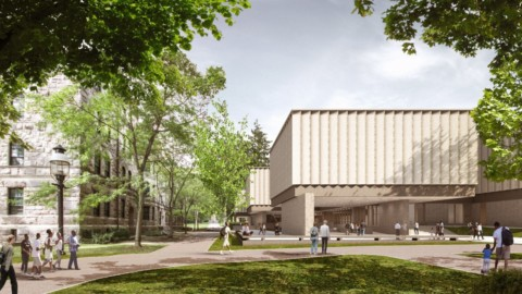 "Adjaye Associates unveils ""romantic and porous"" Princeton University Art Museum
